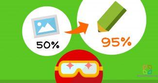 イラストで95%オーバー