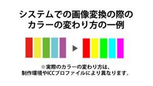 色の変わり方の一例